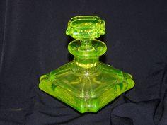 Vintage Vaseline Perfume Bottle France Depression Glass | eBay