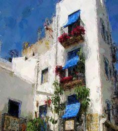 MIS CUADROS (Pintura abstracta): PEÑISCOLA ESPAÑA