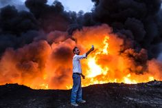 Here are the most influential, striking, and beautiful pictures from 2016. Oil is set ablaze in the Qayyarah area south of Mosul during an operation by Iraqi forces against Islamic State jihadists to retake the main hub city on Oct. 19.