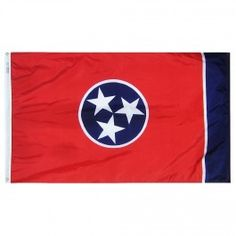 12 in. X 18 in. Nyl-Glo Tennessee Flag http://www.pacificcoastflag.com/12-in-x-18-in-nyl-glo-tennessee-flag.html