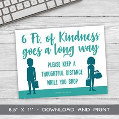 Social Distancing Sign - 6FT of Kindness