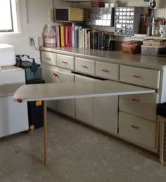 Pull out table built in
