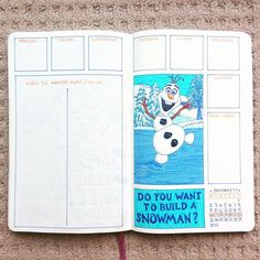 Do you want to hold a snowman bullet journal Bullet Journal Disney, February Bullet Journal, Bullet Journal 2019, Bullet Journal Notes, Bullet Journal Junkies, Bullet Journal School, Bullet Journal Spread, Bullet Journal Ideas Pages, Bullet Journal Layout