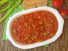 Kışlık Konserve Menemen Nasıl Yapılır? Food Dishes, Salsa, Mexican, Ethnic Recipes, Salsa Music, Mexicans