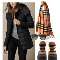 Classic Camel & Black by simple-wardrobe on Polyvore featuring Burberry, SOREL, Vivienne Westwood and Puffycoat