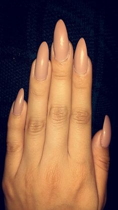 Natural stilleto nails