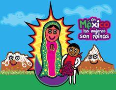 En México las reinas son morenitas. Feliz día Lupis!  www.mexicanitosalgrito.com
