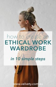 Making an ethical work or office wardrobe can be tough! Here are 10 simple tips to help you get started. Ethical brands and sustainable style that you are going to love wearing for a lifetime! Blog post on Velvety, by Be Kind Coco