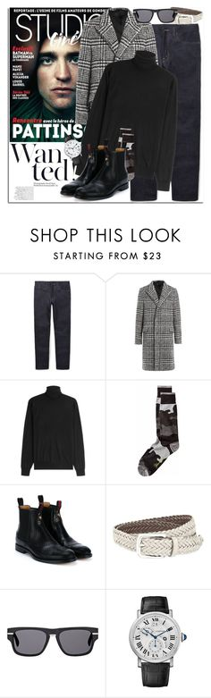 """""""Man of Style: Robert Pattinson"""" by coraline-marie ❤ liked on Polyvore featuring Gucci, Carven, Ralph Lauren Black Label, Brunello Cucinelli, Oliver Peoples, Cartier, men's fashion and menswear"""