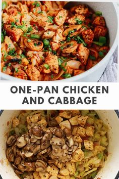 Chicken and cabbage is a one pan meal that is healthy and quick. Use it for dinner or meal prep four lunches in under 30 minutes. #chickenrecipe #cabbagereipe #onepanchickenrecipe Cabbage And Sausage, Chicken And Cabbage, One Pan Chicken, Chicken Meal Prep, How To Cook Chicken, Gluten Free Recipes For Breakfast, Best Gluten Free Recipes, Whole 30 Recipes, Sunday Meal Prep