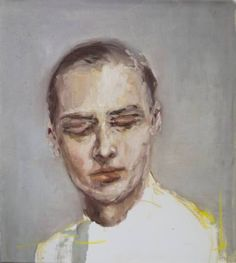 "Saatchi Art Artist Pauline Zenk; Portrait of man Painting, ""Portrait of a man with closed eyes"" #art"