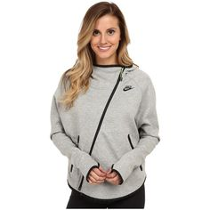 You bring a different take to workouts in this Nike® Tech Fleece Butterfly hoodie! Soft fleece fabric lends a warm and cozy feel to this jacket. Scuba neckline…