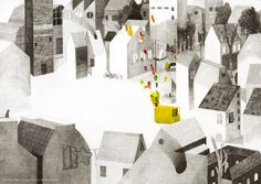 'The Balloon Man' By Giovanna Zoboli and Simone Rea Published by Topipittori, Italy