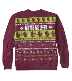 Metal Mulisha XMAS YULE SHOOT YOUR EYE OUT FLEECE for him! Mens holiday sweater. Show up to your next Christmas Party as the shit, not looking like shit!