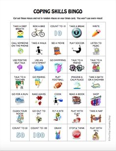 Stress management : Stress management : New(ish) Product :: Anger and Coping Skills Bingo Game Therapy Games, Therapy Tools, Therapy Activities, Play Therapy, Group Activities, Therapy Ideas, Group Games, Art Therapy, Coping Skills Activities