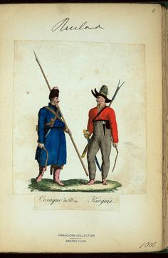 Don Cossack & Kirguis (NYPL > The Vinkhuijzen collection of military uniforms > Russia. > Russia, 1806 [part 1])
