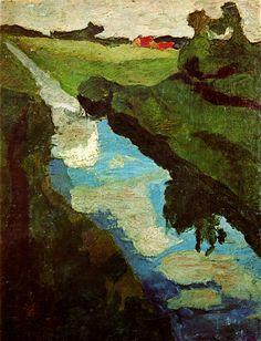Peat digging - Paula Modersohn-Becker