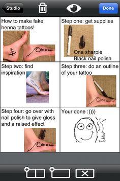How to do fake tattoos