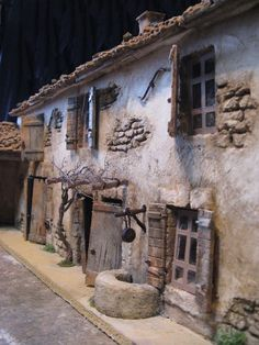 Gilbert et Anthony MACCIOCU Santonniers créchiste… – – BuzzTMZ - Feeën tuinhuizen, Ontwerpen van kleine huizen en Poppenhuizen Christmas Nativity Scene, Christmas Villages, Medieval Houses, Wargaming Terrain, Free To Use Images, Fairy Garden Houses, Ceramic Houses, Facade House, Miniature Houses