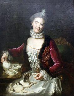 Anna Rosina de Gasc (Lisiewska) - Portrait of a woman. 1761