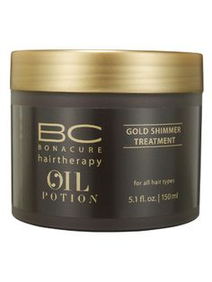 Schwarzkopf Professional BC Bonacure HairTherapy Oil Potion Gold Shimmer Treatment boosts shine and softens hair