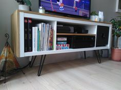 Fantastic Screen A custom TV stand and accommodates a subwoofer Strategies The IKEA Kallax collection Storage furniture is an important element of any home. They provide pur Home Diy, Kallax Ikea, Diy Déco, Furniture, Kallax, Ikea Inspiration, Home Decor, Custom Tv Stand, Home Deco