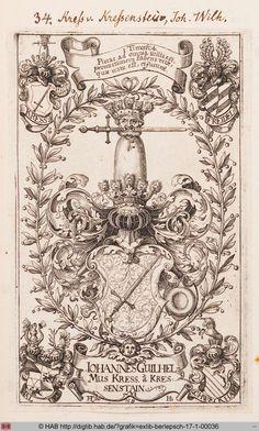 Virtuelles Kupferstichkabinett | Wappen des Johann Wilhelm Kress von Kressenstein