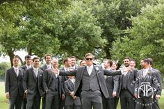 Claire + Blaine June Wedding | Grey Groom with his men | @tracyautem