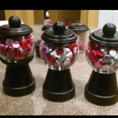 Gumball machine candy dishes :) Great teacher gifts for Valentines Day!