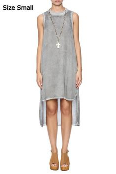 NEW Anthropologie Cloth & Stone Gray Chambray High Low Tank Dress Tunic S Small #Anthropologie #AsymmetricalHemSheathShiftShirtDressTunic #Casual