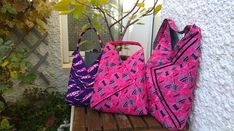 origami bags: small, medium and large models - Couturekdanse Origami Bag, Sneaker Boots, Corduroy Pants, Small Bags, Pink Purple, Preppy, Gym Bag, High Top Sneakers, Pouch