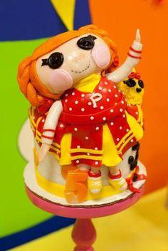 Lalaloopsy cheerleading cake #cake #lalaloopsy #cheerleader