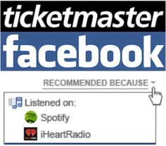 Ticketmaster can now offer you concert tickets based on your listening history on sites like spotify.