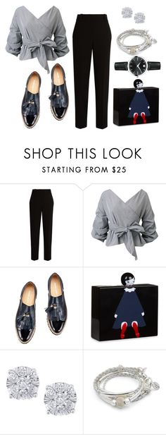 """""""Moo"""" by grafonski ❤ liked on Polyvore featuring The Row, Lulu Guinness, Effy Jewelry, Lizzy James and Movado"""