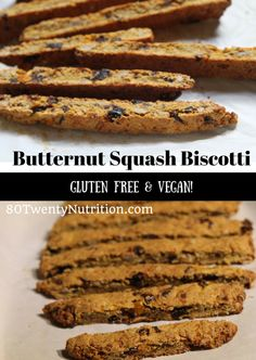 Healthy Butternut Squash Biscotti with Dates and Walnuts - vegan and ...
