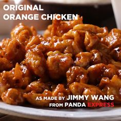 The Original Orange Chicken by Panda Express Nice photo! The Original Orange Chicken by Panda Express Nice photo! Tasty Videos, Food Videos, Tasty Chicken Videos, Recipe Videos, Cooking Videos, Healthy Dinner Recipes, Cooking Recipes, Vegan Meals, Diet Recipes