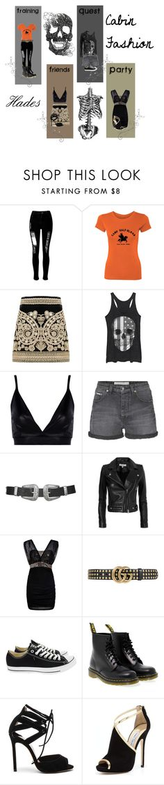 """""""Hades - Cabin Fashion"""" by tinkerbell06 ❤ liked on Polyvore featuring WithChic, For Love & Lemons, Fifth Sun, Boohoo, Calvin Klein Jeans, Topshop, IRO, Gucci, Converse and Dr. Martens"""