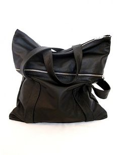 A'N'D convertible tote bag - black leather $310