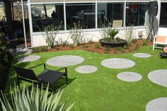 grass with pavers | Lawns