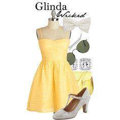 """Glinda - Wicked"" by thebroadwaywardrobe on Polyvore"