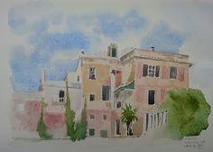 WaterColourSundayMan: Villa Sabatelli ad Albissola Sup.28.7.2015   Carta...