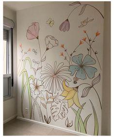 Wall Painting Decor, Mural Wall Art, Diy Wall Art, Home Wall Art, Wall Mural Painting, Painted Wall Murals, Wall Décor, Painted Wall Designs, Decorative Wall Paintings