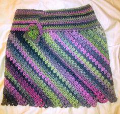 Teen Crocheted Multicolor Mini Skirt by SingleThreads on Etsy, $40.00