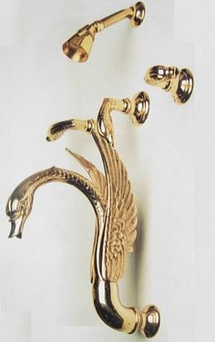 $699.00 | Buy Free shipping Custom made gold PVD finish swan bathtub shower faucet with shower head Complete 3 Handle Tub & Deluxe Shower Set from Reliable faucet pipe suppliers on Classic Faucet Store