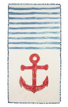 Anchor Sketch Cotton/Silk Scarf