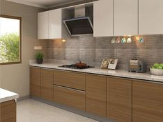 Lyon Parallel Modular Kitchen Matt White & Vivid Straw