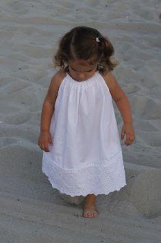 White, Beach Pillow Case Dress