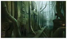 steampunk concept art bar - Google 検索
