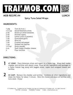 Spicy Tuna Salad Wrap!