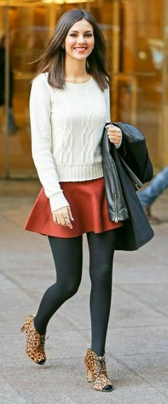 Victoria Justice Outfits, Sexy Skirt, Black Tights, Girl Photography, Trendy Outfits, Fit Women, Madison Reed, Short Dresses, Mini Skirts